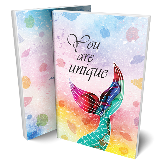 You-are-unique-mermaid-notebook-design-by-white-wood-studio